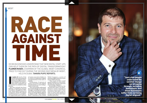 Arabian Business Magazine: Race against the time