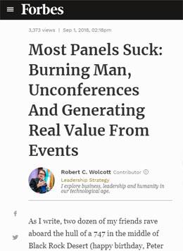 Повечето сесии са скучни: Burning Man, Unconferences и истинската стойност на организираните събития