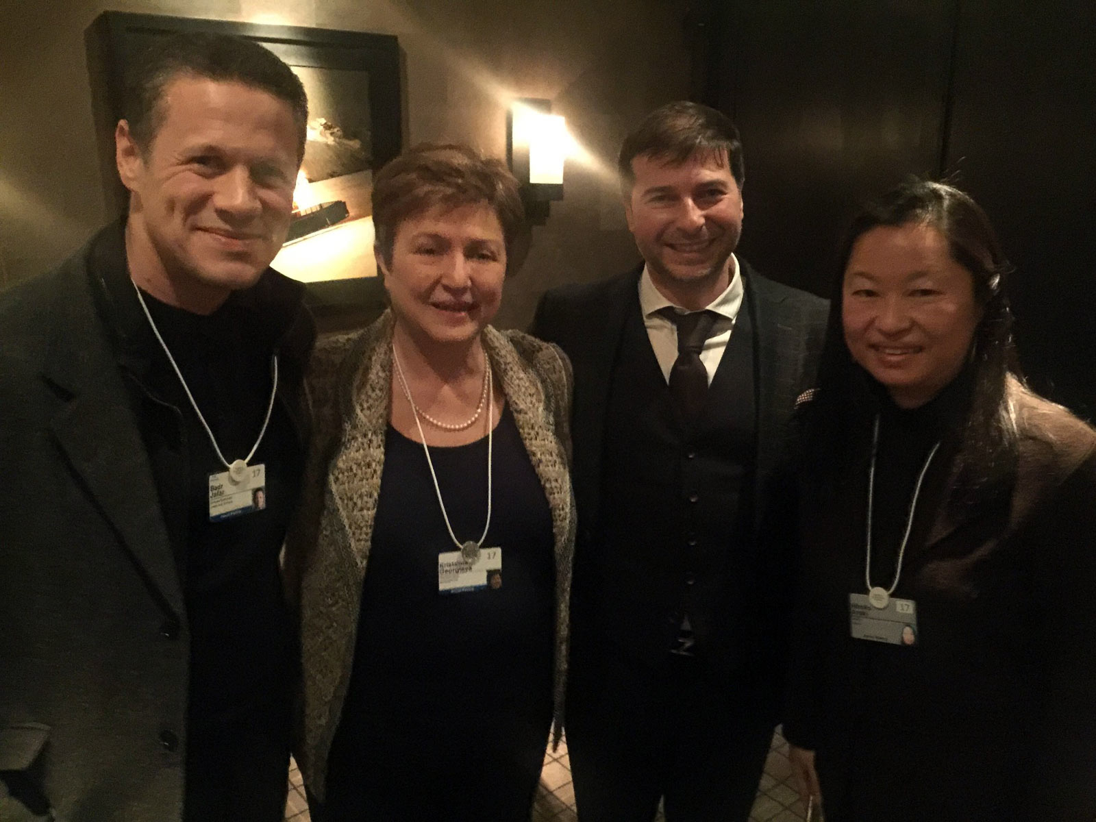 Plamen Russev with former European Commissioner and CEO of the World Bank Kristalina Georgieva