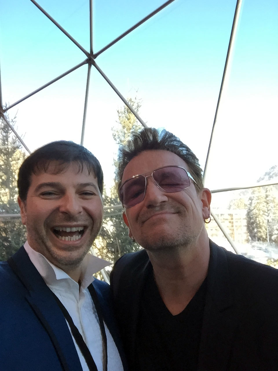 Plamen Russev with the philantrophist and frontman of the legendary U2, Bono