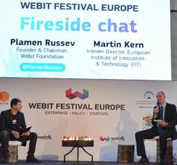 Пламен Русев в разговор с директора на Европейския институт за иновации и технологии (EIT)