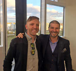 Пламен Русев с основателя на Kickstarter Чарлз Адлер
