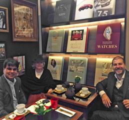 Пламен Русев с основателя на виртуалните медици проф. Шафи Ахмед и филантропа и инвеститора Хедър Де Хейс в Лондон
