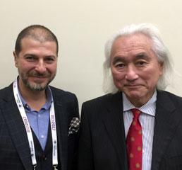 Пламен Русев с физик, футурист и популяризатор на науката Мичио Каку в Москва