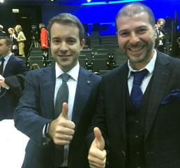 Пламен Русев с най-младия министър на комуникациите и средствата за масова информация на Русия Николай Никифоров в Москва