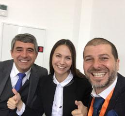 Пламен Русев с президента на България (2012-2017) Росен Плевнелиев и членът на Европейския парламент - Ева Мейдел (Паунова) в София