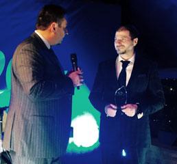 Пламен Русев получава награда от Българския икономически форум