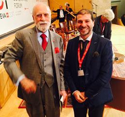 Пламен Русев с бащата на Интернет и електронна поща, Винт Серф, UN IGF