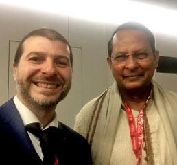 Пламен Русев с Хасанул Хак Ину, министър на информацията на Бангладеш, Женева 2017 г.