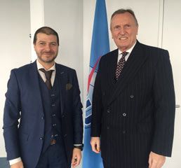 Пламен Русев с Малком Джонсън, генерален секретар на ITU, ООН