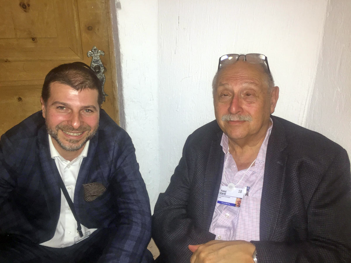 Plamen Russev with Yossi Vardi, the early investor in ICQ (600 mil exit) and referred by global media as the Godfather if the Israel Innovation and Startup ecosystem (Davos 2018)