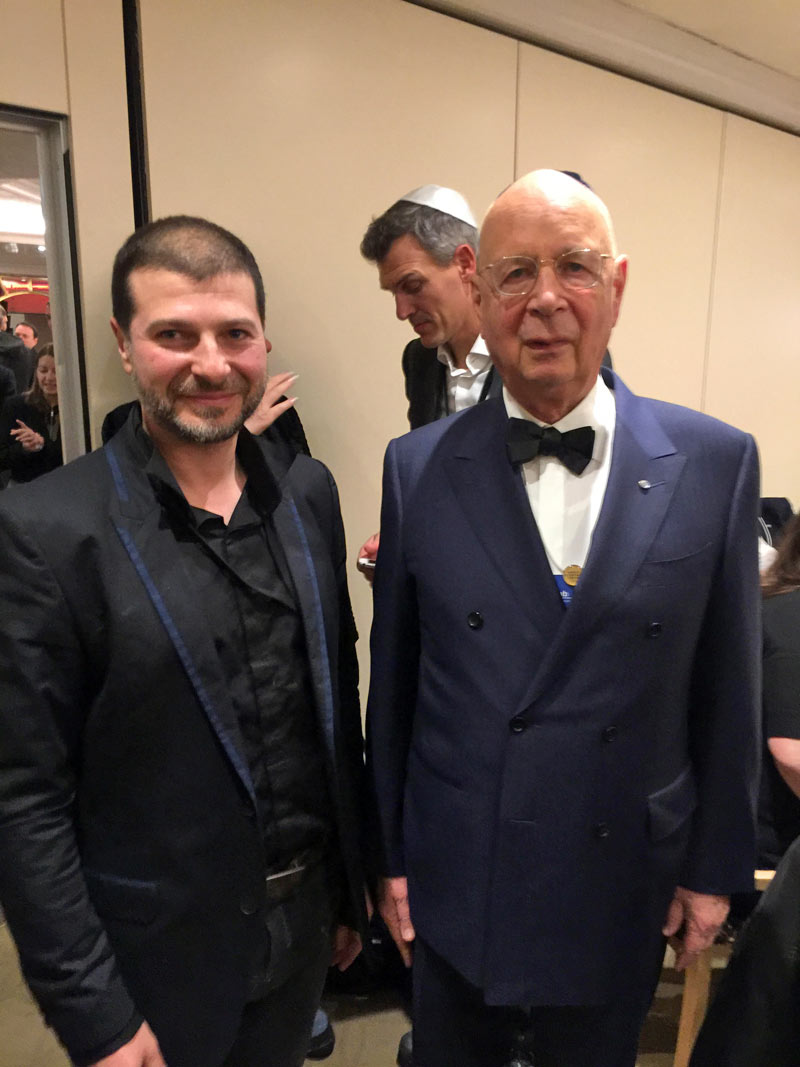 Plamen Russev with one of the most impactful people on the Planet Earth - the Founder and Chair of the World Economic Forum - Prof. Schwab