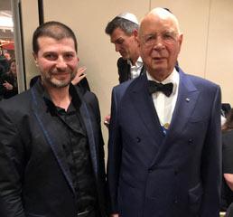 Д-р Пламен Русев с основателя и председател на Световния икономически форум - д-р Клаус Шваб