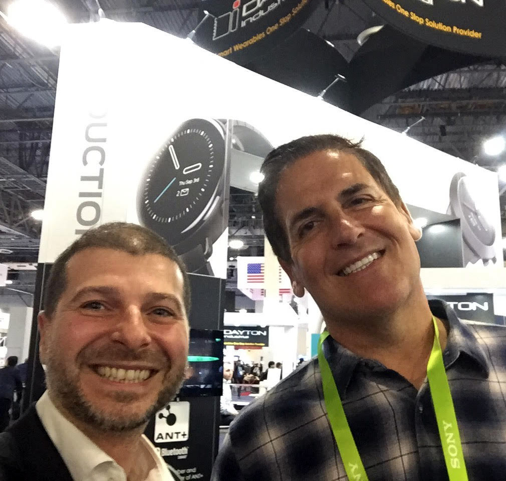 Plamen Russev with Mark Cuban -  the Shark in the Shark Tank, one of the world's top entrepreneurs and co-investor in his portfolio company Unikrn.