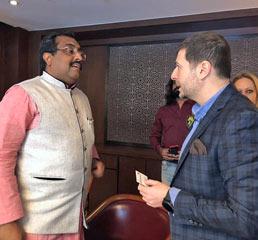 Пламен Русев на частна среща с Рам Мадхав, генерален секретар на политическата партия на власт в Индия, BJP
