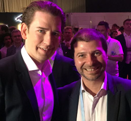 Пламен Русев с канцлера на Австрия Себастиан Курц