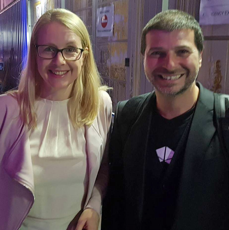 Plamen Russev with Margarethe Schramböck, Minister for Digital Affairs of Austria - a hearthly get togethter in Austria.