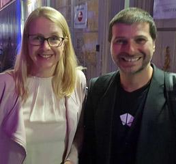 Пламен Русев с Маргарет Шрамбьок, министър на цифровите въпроси на Австрия - сърдечно събирайте се в Австрия.