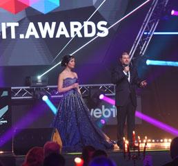 Пламен Русев с Аниела Русева на официалната церемония по награждаване на Webit на Webit.Festival Europe 2018