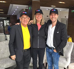 Пламен Русев с д-р Естер Войчики, основател, Център за високи медийни изкуства Palo Alto и Ралф Саймън, главен изпълнителен директор и основател на Mobilium Global