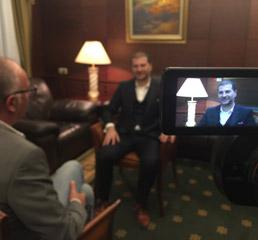 Пламен Русев в интервю за телевизионната мрежа Ал Джазира