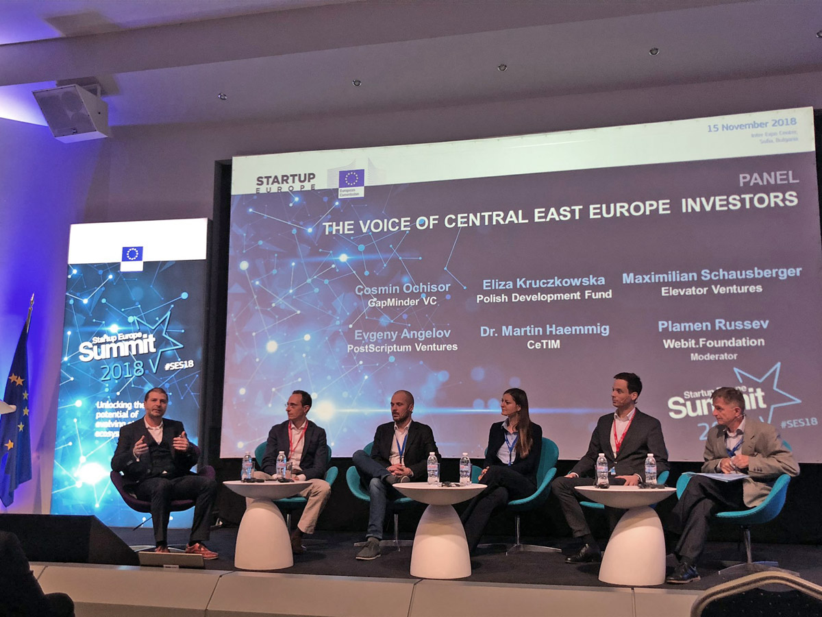 Plamen Russev chairing a panel on the European Commission's Startup Europe Summit 2018