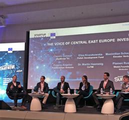 Пламен Русев, председателстващ панел на срещата на върха на Европейската комисия Startup Europe 2018