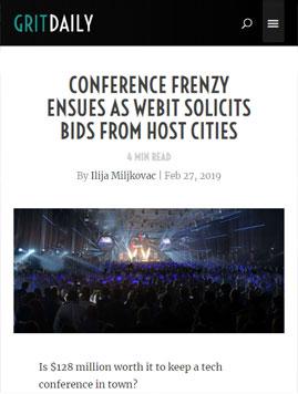 Конферентната лудост настъпва, когато Webit иска оферти за градове домакини