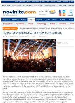 Билетите за Webit.Festival вече са напълно разпродадени