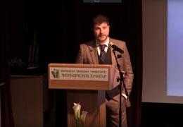 Публичната лекция, част от официалната церемония по награждаване на Пламен Русев със званието доктор хонорис кауза на Университета Черноризец Храбър, Варна (част 2)